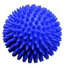 Reha Massageball IGEL 10 cm blau